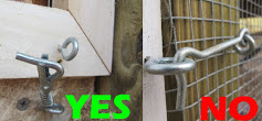 chicken coop latches: good and bad